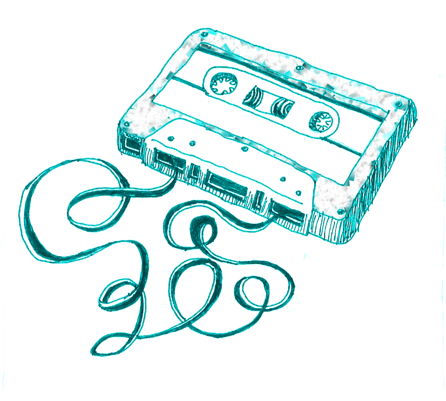 900x809 Images Of Cassette Tape Drawing