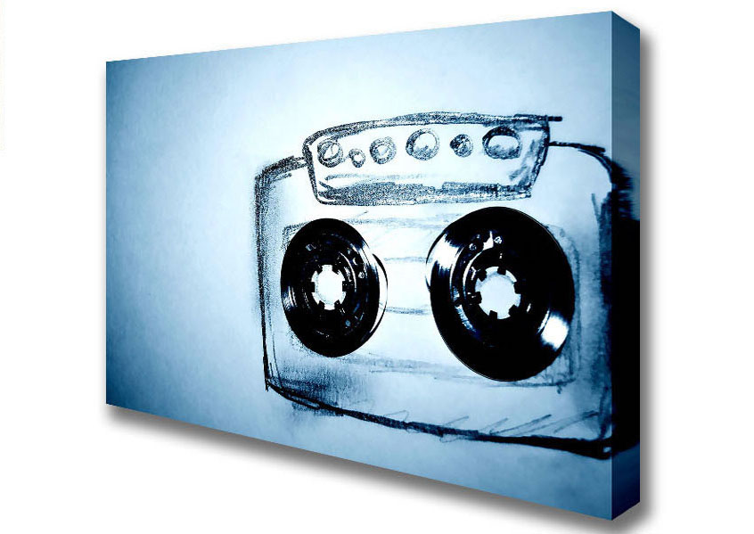 846x599 Modern Cassette Tape Drawing Canvas Art Prints