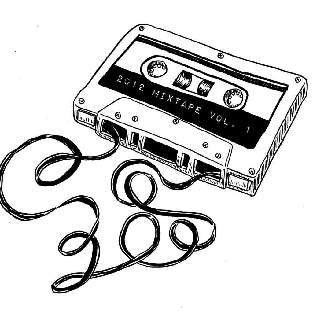 1024x1024 Tape Drawing Cassette Player For Free Download