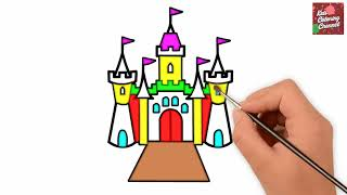 320x180 how to draw a castle for kids castle drawing for kids castle
