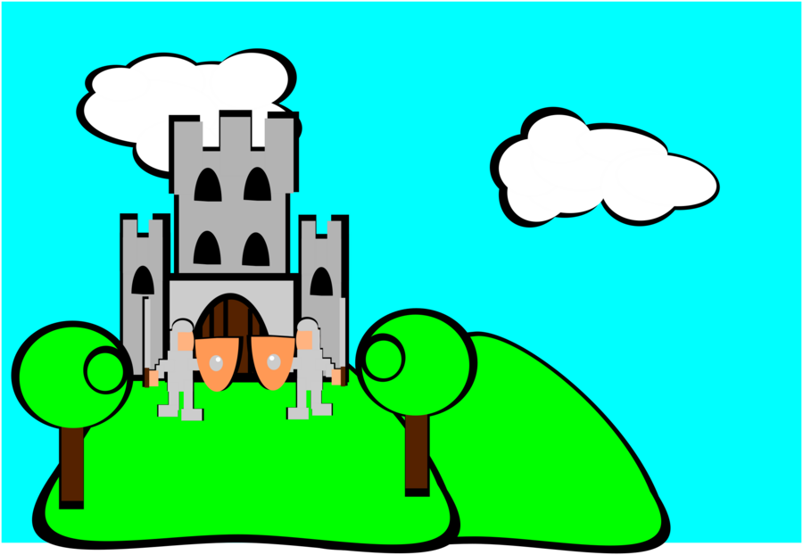 900x622 Castle, Drawing, Green, Transparent Png Image Clipart Free Download