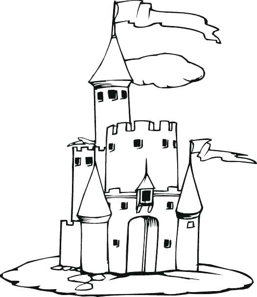 525x605 Flag Drawing Castle For Free Download