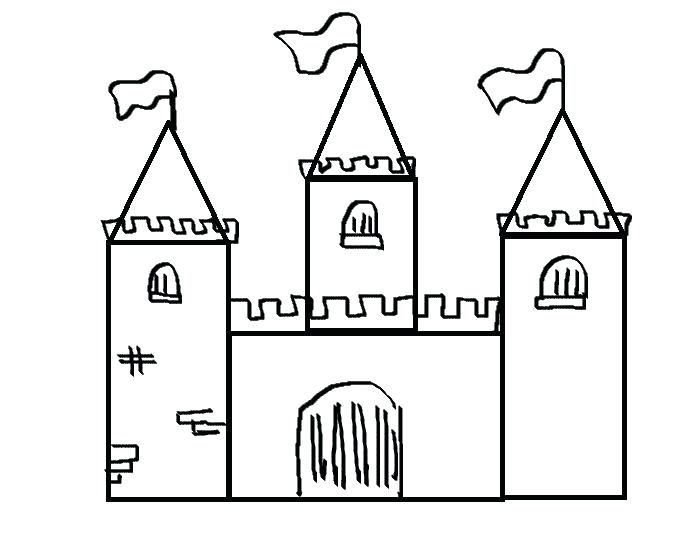 678x540 Easy Castle Drawing How To Draw A Castle And How To Draw