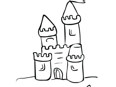 440x330 Free Sand Castle Drawing Download Clip Art On Luxurious Coloring