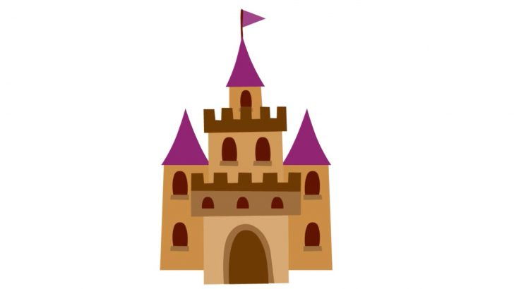 728x410 How To Draw An Easy Disney Castle A Step