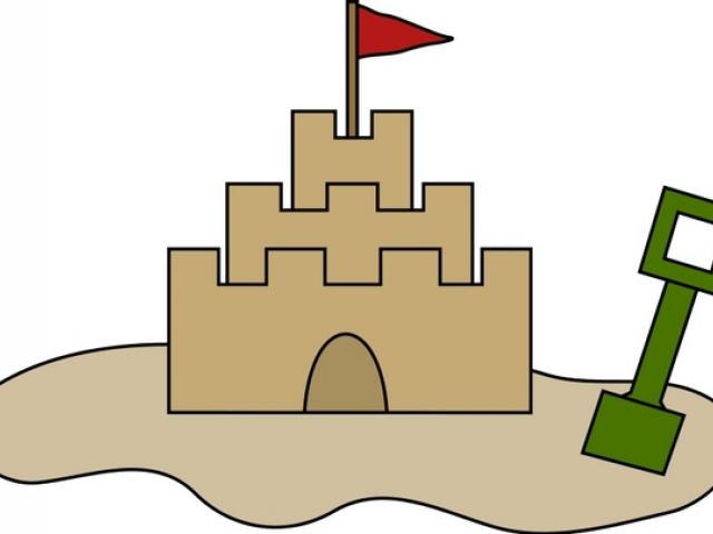 640x480 Sand Castle Drawing