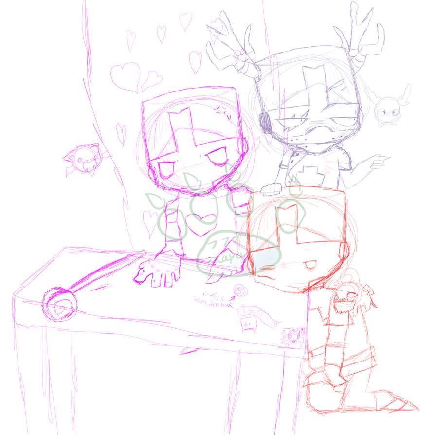 894x894 Wip Castle Crashers Sketch