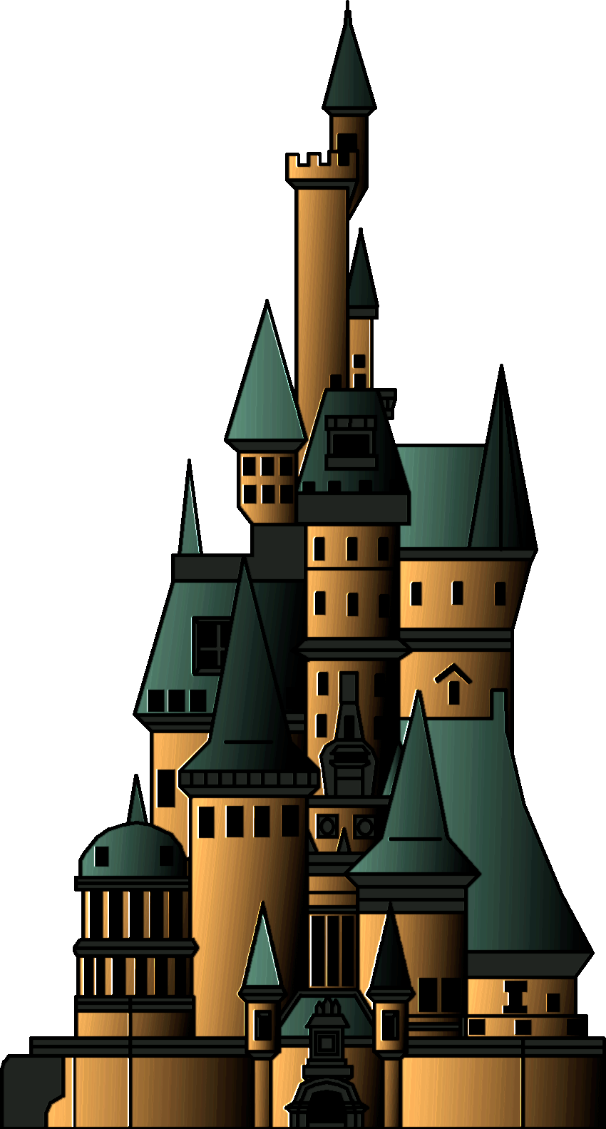 850x1583 Beauty And The Beast Castle