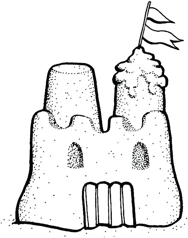 Castle Outline Drawing