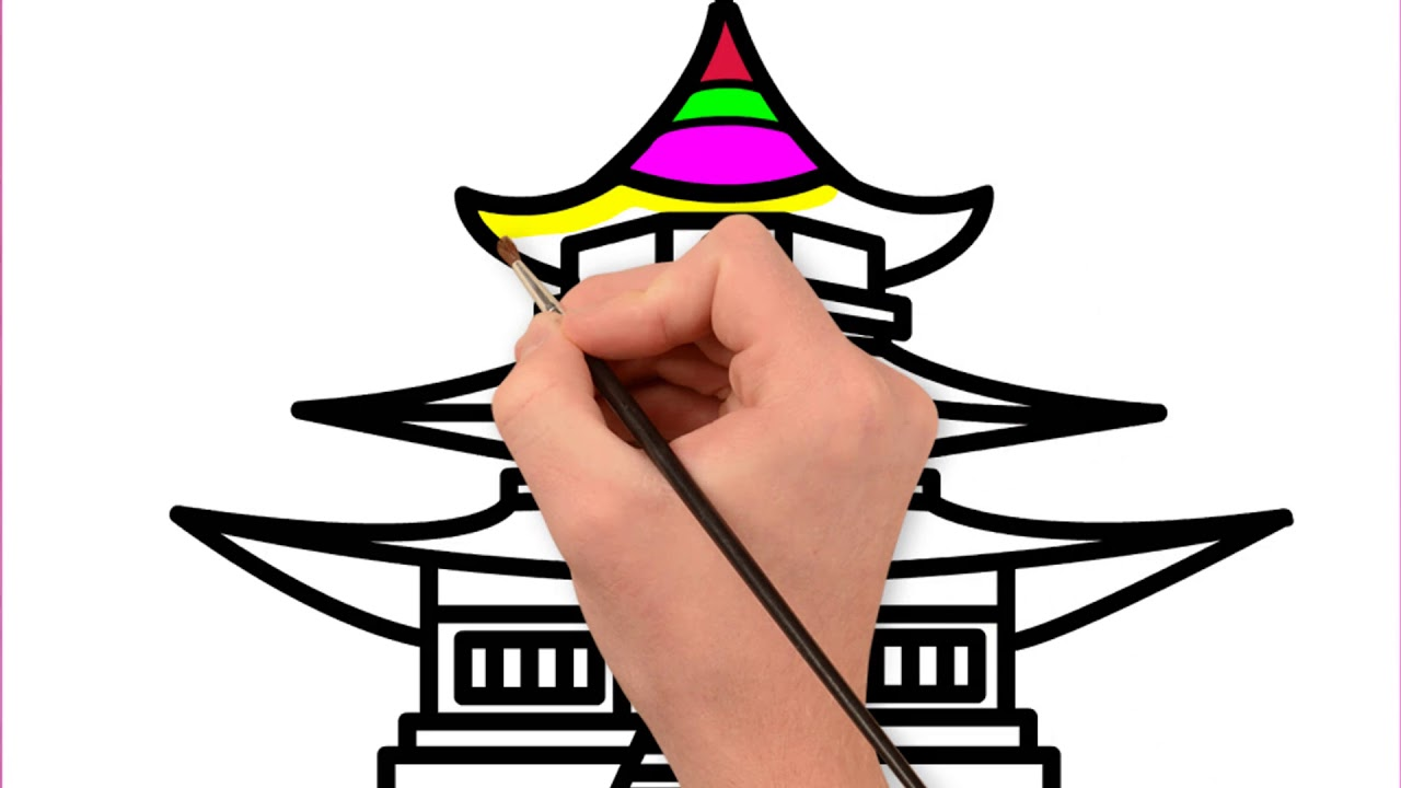 1280x720 how to draw a castle for kids castle drawing for kids castle