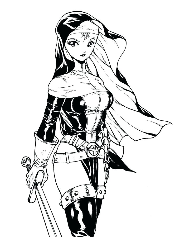 736x998 How To Draw Anime Warriors Anime Cat Coloring Pages Photos