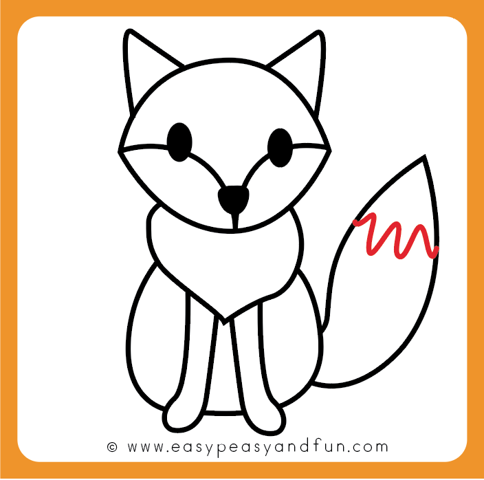 704x698 How To Draw A Fox