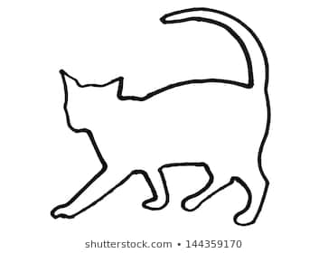 363x280 Huge Collection Of 'cat Drawing Outline' Download More Than