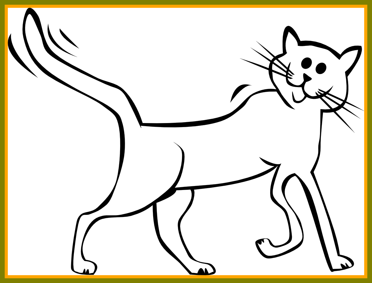 1202x913 Cat And Dog Clip Art Freeuse Library Black And White Huge