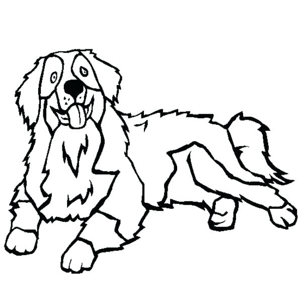 600x612 Doggy Coloring Pages Mountain Dog Coloring