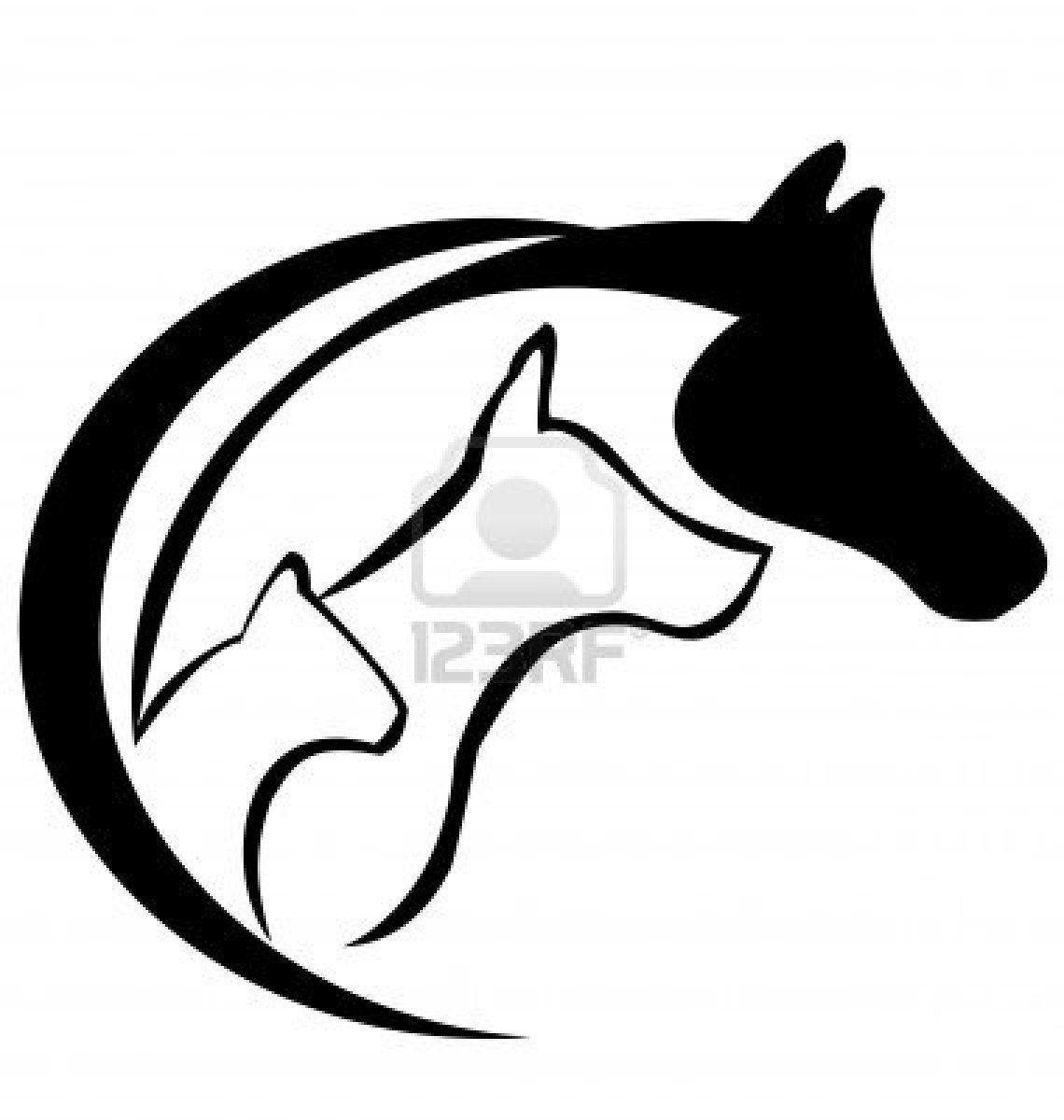 1140x1200 Horse Dog And Cat Logo Silhouette Cool Stuff Cat Tattoo