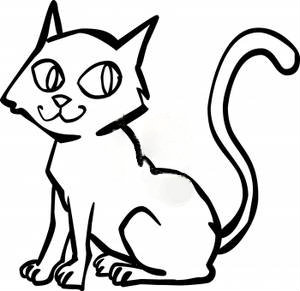 300x291 Cat Clipart Black And White