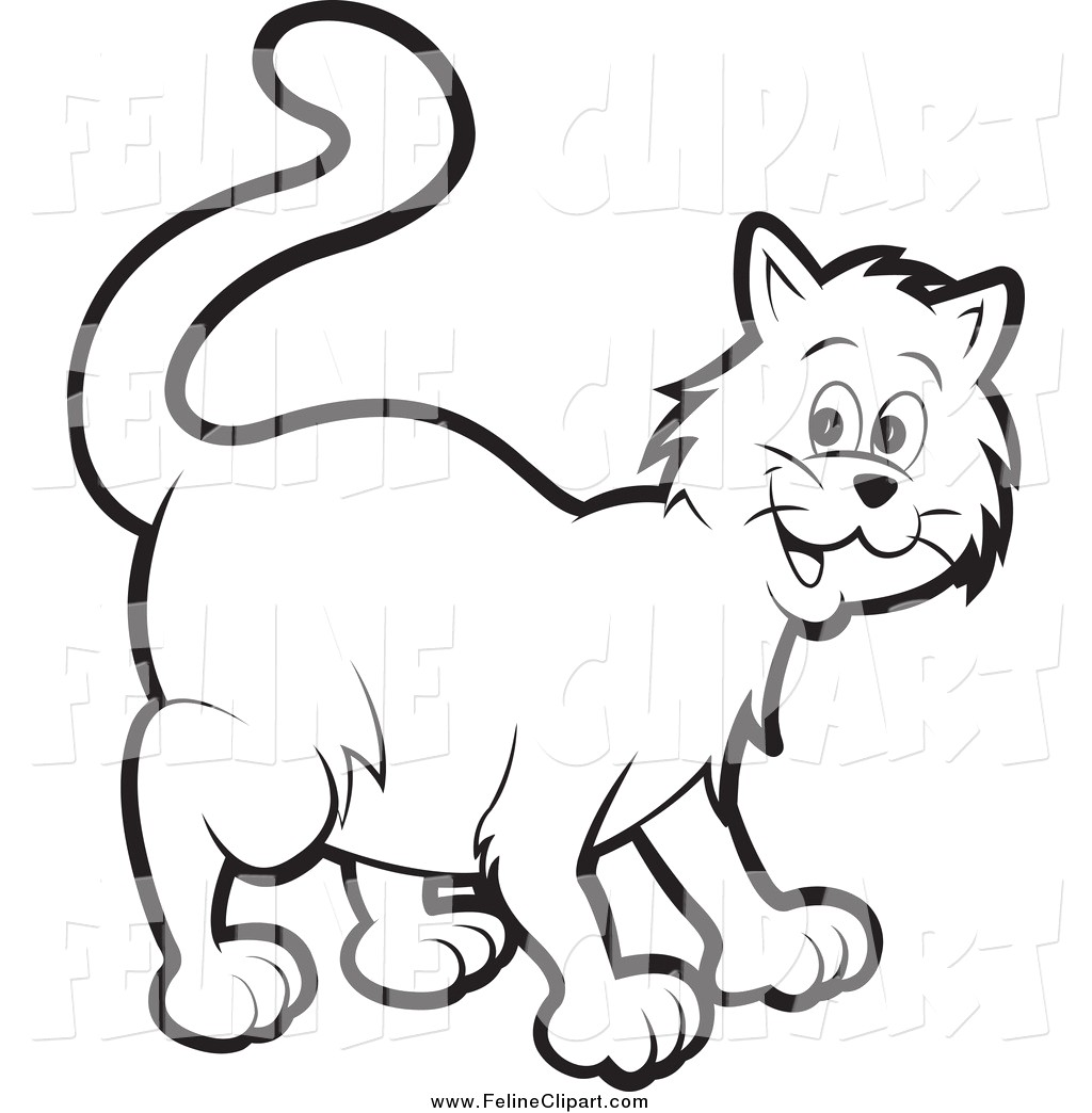 1024x1044 Kitten Clipart Black And White Feline Clip Art Of A Happy Cat