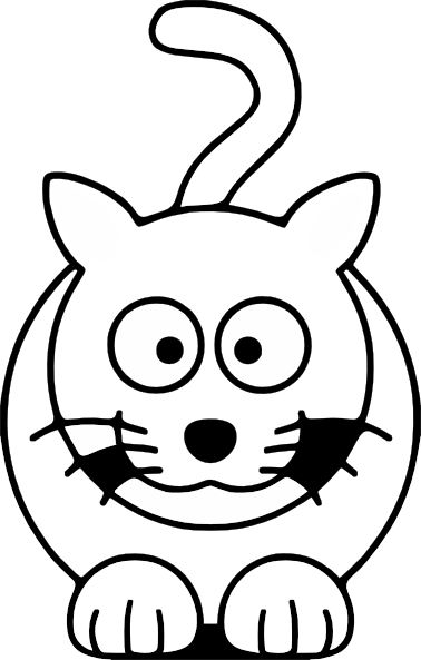 378x593 Lemmling Cartoon Cat Black White Line Art Coloring Book Colouring