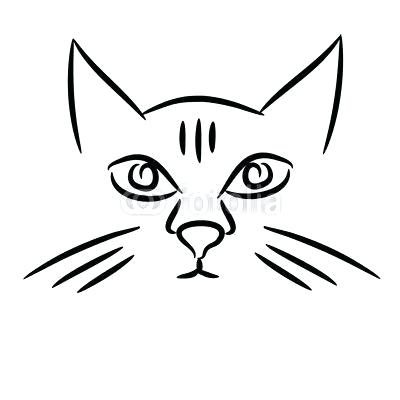 400x400 Kitty Face Drawing Cat Face Drawing Cute Kitty Face Drawing