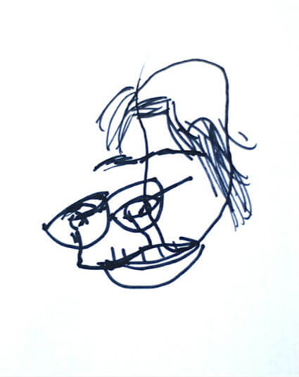 425x535 Blind Contour Drawing