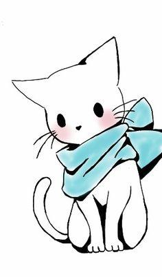 236x402 Cute Cat Drawings