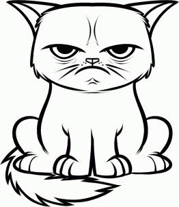 262x302 Filegrumpy Cat Drawing