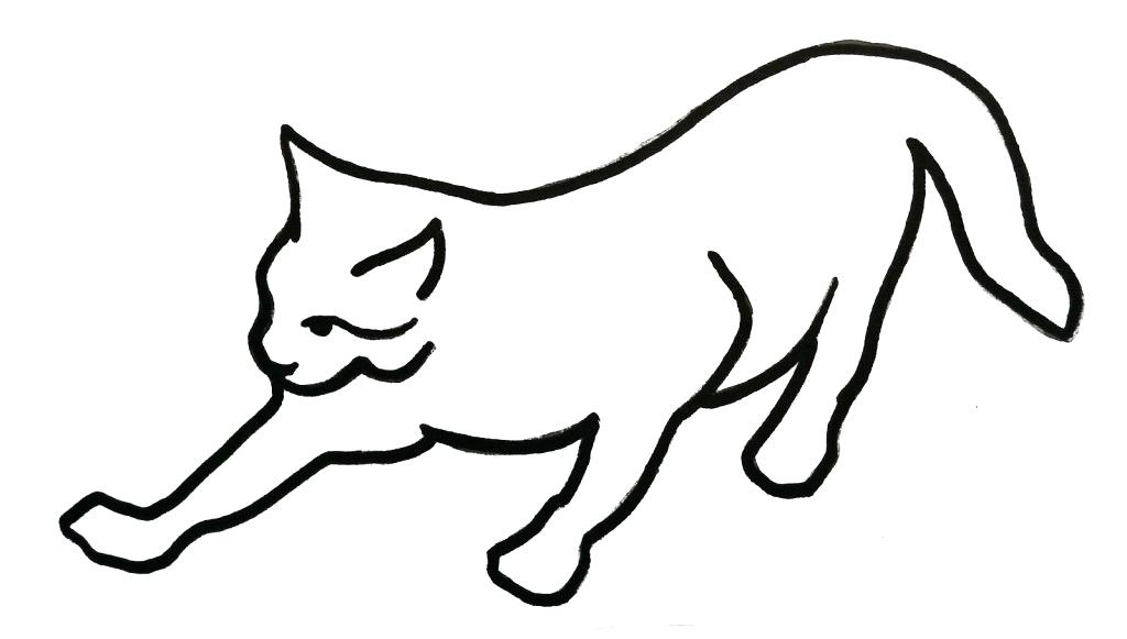 1024x581 How To Draw An Easy Cat How To Draw A Cute Cartoon Cat Steps