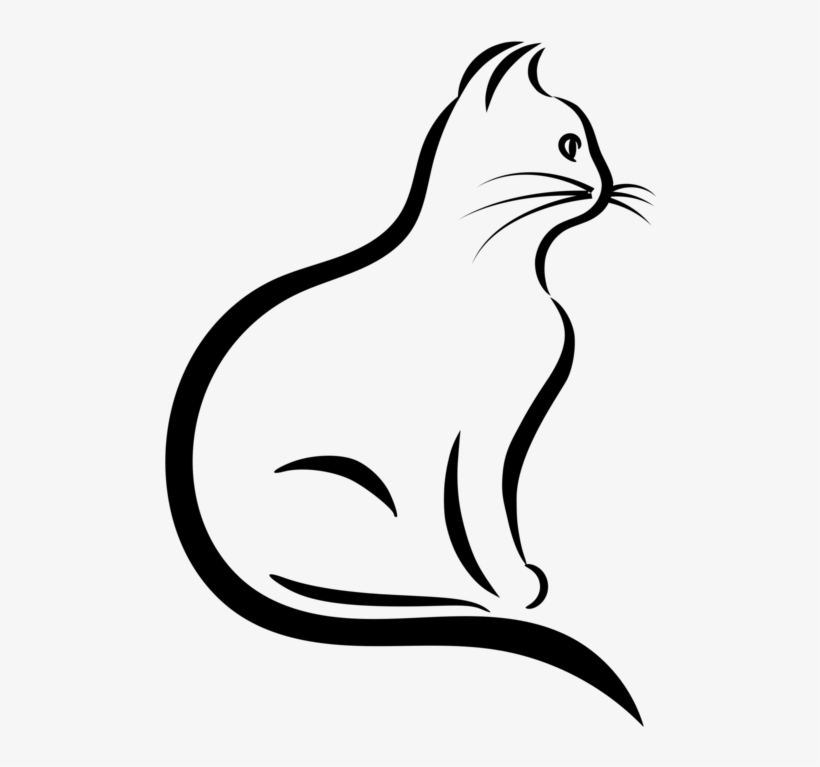 820x767 Black Cat Silhouette Drawing Stencil