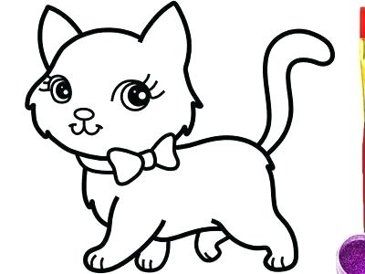 400x300 Easy Cat Drawings For Kids