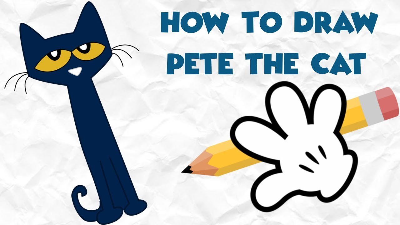 1280x720 How To Draw Pete The Cat Directed Drawing