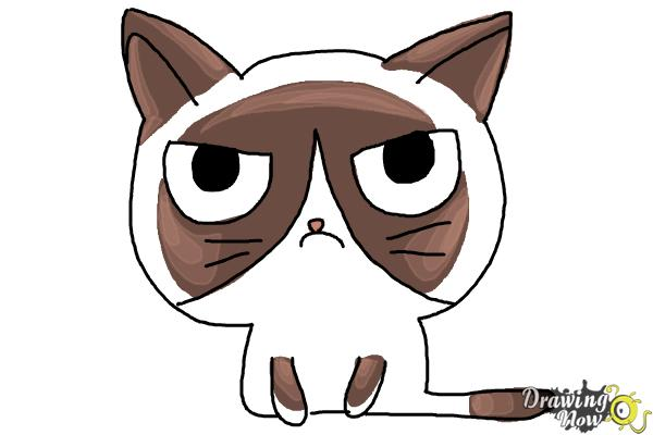 600x400 How To Draw A Grumpy Cat