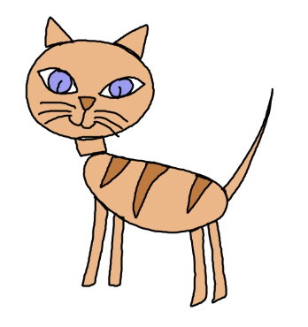 348x370 Huge Collection Of 'cat Drawing Kids' Download More Than
