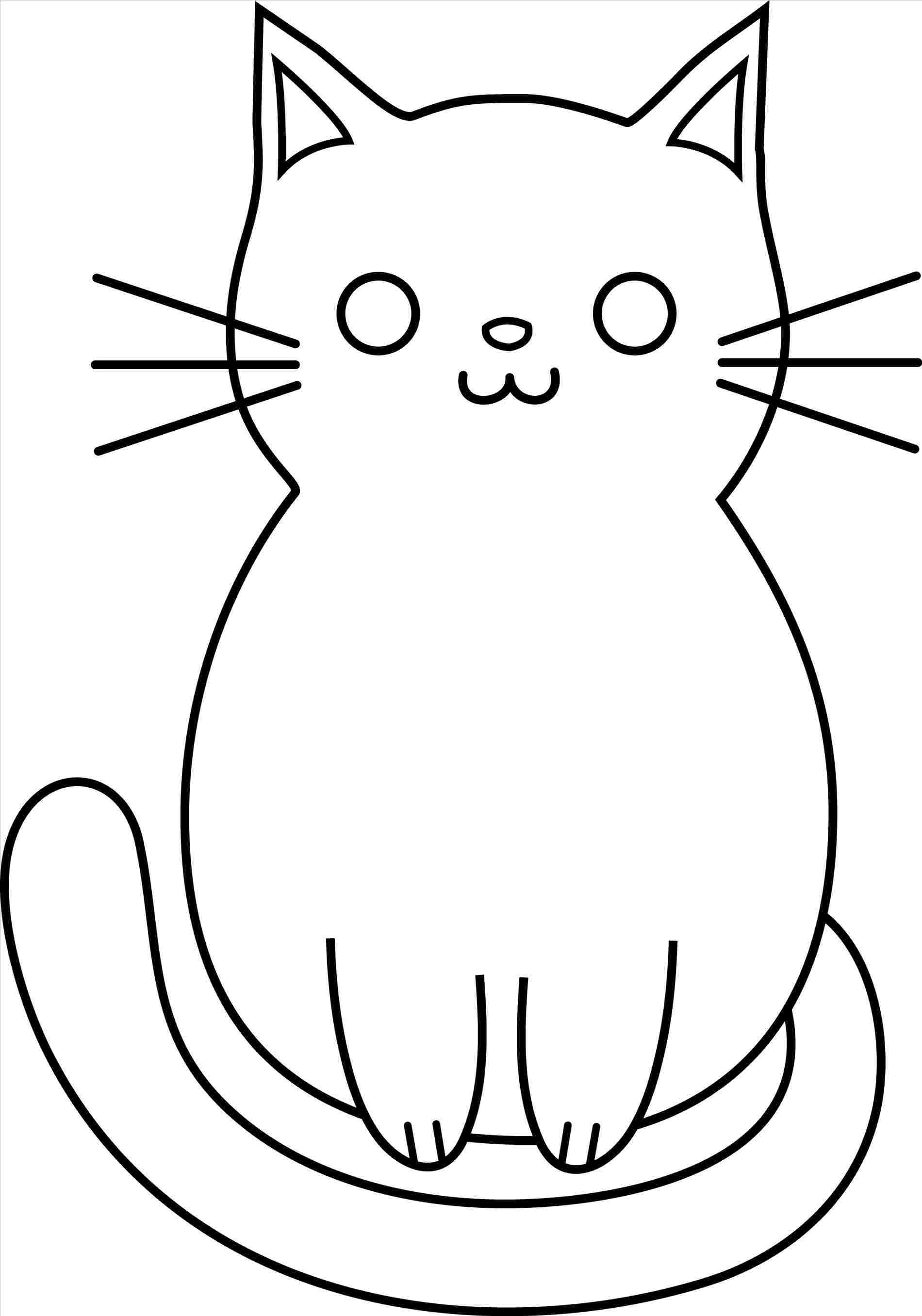 1900x2713 Huge Collection Of 'cat Face Drawing Images' Download More Than