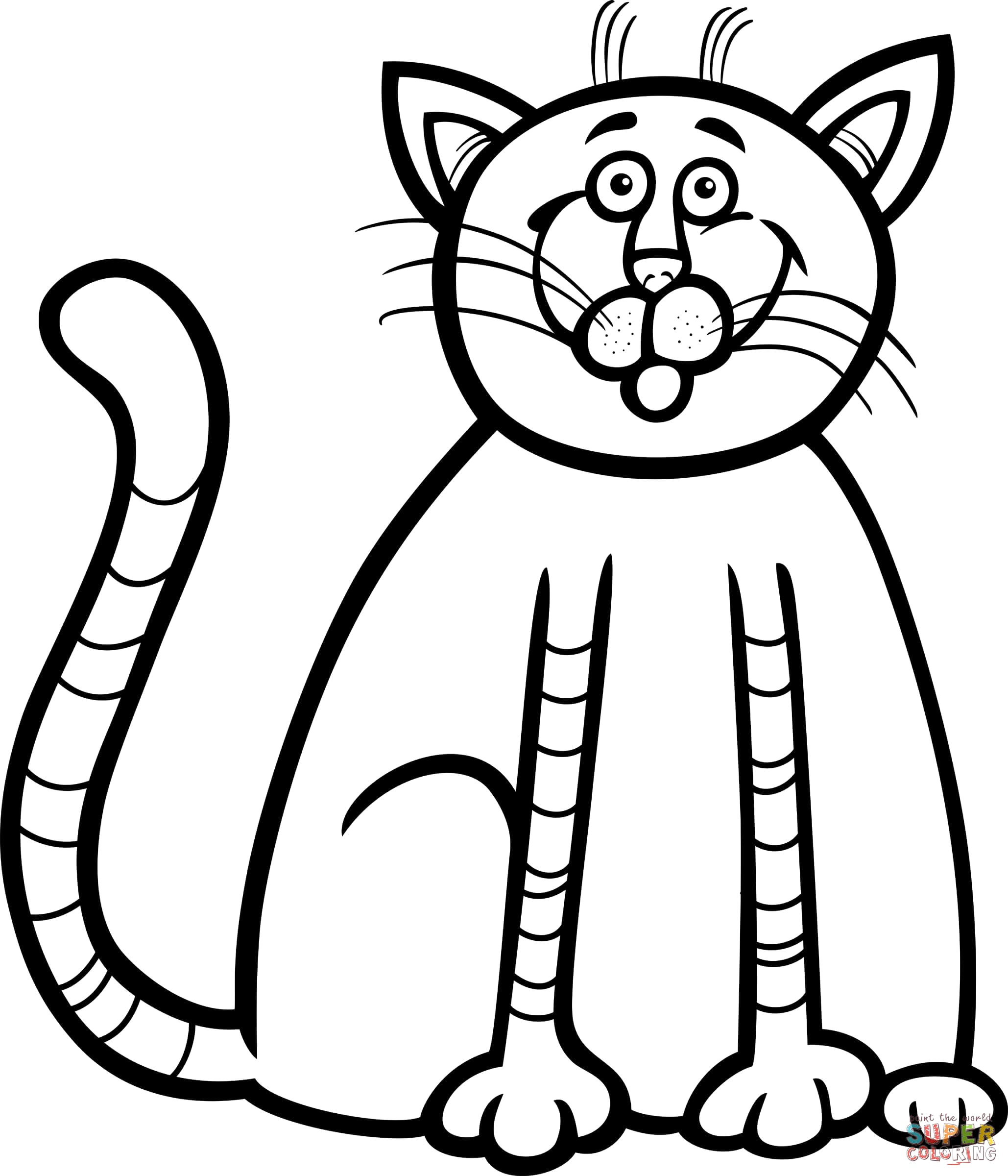 2058x2400 Cat Drawing Pages Cute Baby Coloring