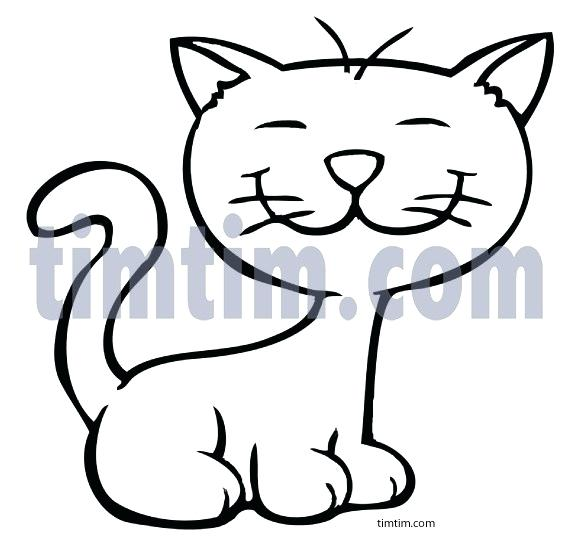 572x541 easy kitten drawings how to draw a kitten step