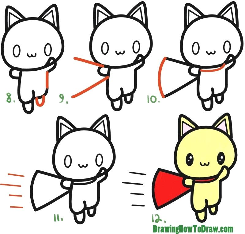 800x762 Easy Cat Drawing For Kids