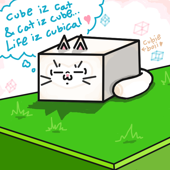 578x579 Cube Cat The Online Comic Drawing Game