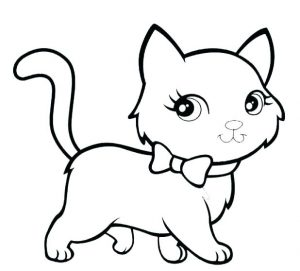 300x271 Printable Cat Coloring Pages Ideas For Kids