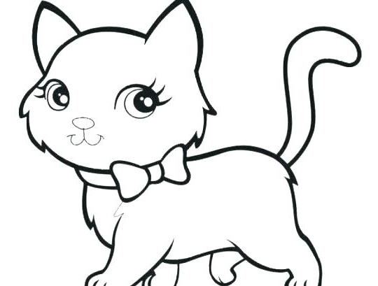 540x409 Kitten Coloring Pages Stvx Coloring