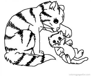 300x250 Kitty Cat Coloring Pages Cat Drawing Pages