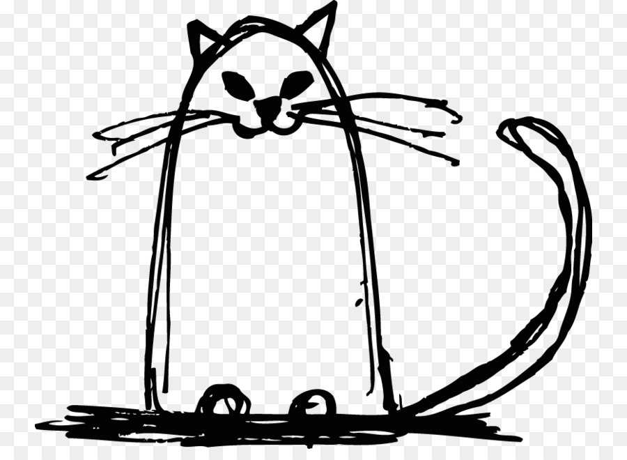 900x660 Cat, Drawing, Sketch, Transparent Png Image Clipart Free Download