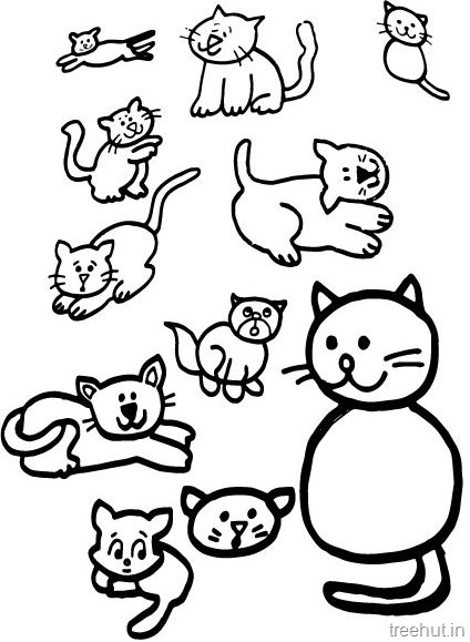 424x579 Cat Drawing And Coloring Pages For Kids