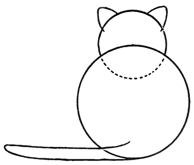 400x342 How To Draw Kitty Cats From The Back Easy Step