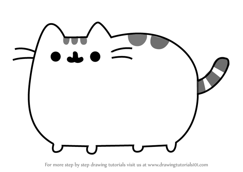 800x567 Learn How To Draw Pusheen The Cat
