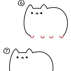 300x300 Easy Cat Drawing Fresh How To Draw A Cute Cartoon Cat Steps