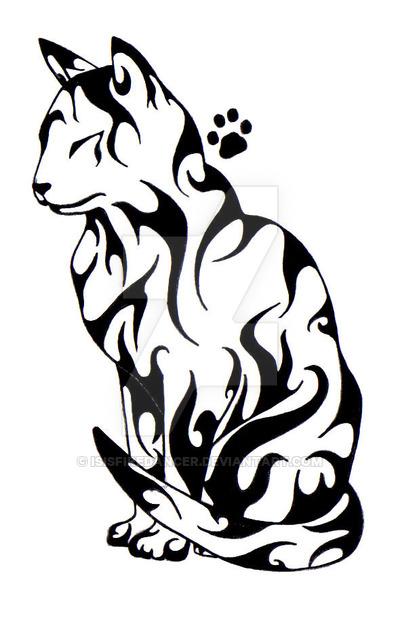 400x622 Cat Tattoo