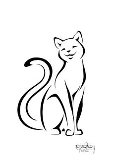 236x333 best cat tattoo images cat art, tattoo cat, cat doodle