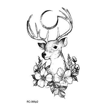 355x355 Women Temporary Tattoos Cute Animals Symbols Cat Deer