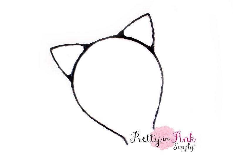 794x529 black hollow cat ears headband dyi ears headband diy headband etsy